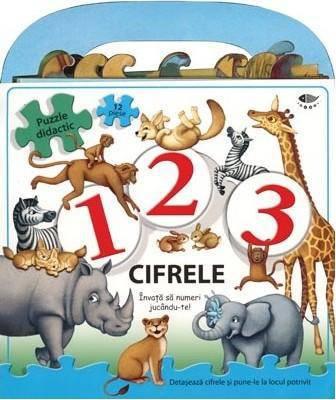 1, 2, 3... CIFRELE - PUZZLE DIDACTIC