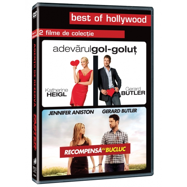 2DVD - UGLY TRUTH / RHE BOUNTY HUNTER-2DVD-ADEVARUL GOL-GOLUT/RECOMPENSA CU BUCLUC