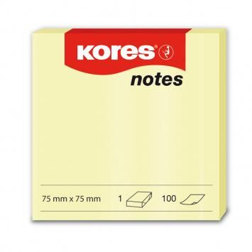 Notes 75x75,80/100file,neon galben,Kores