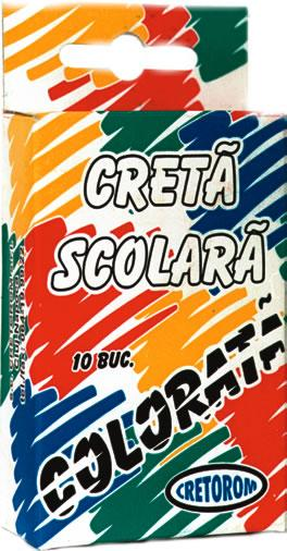 Creta colorata,10 buc/cutie,5culori