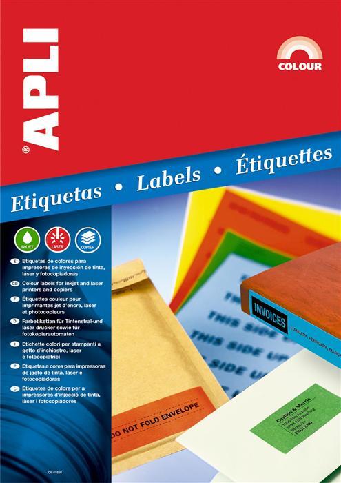 Etichete Apli,64x33. 9mm,480buc,orange