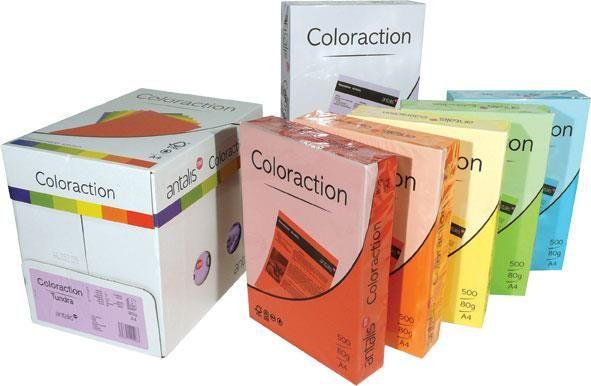 H.color A4 Rainbow,80g, 500 coli,portocaliu-Gol