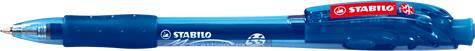 Pix Stabilo Marathon,F,albastru,cu mecanism
