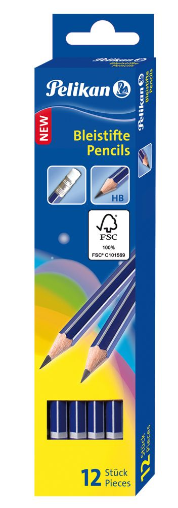 Creion grafit Pelikan, cu radiera HB