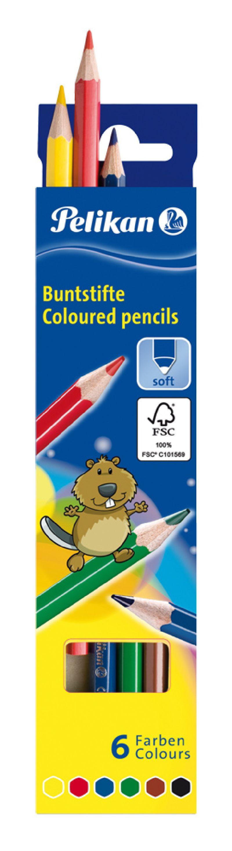 Creioane colorate,6b/set,Pelikan