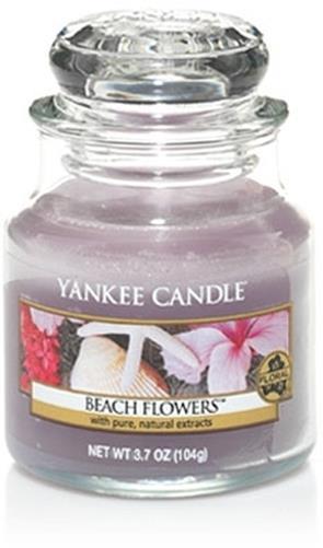 Lumanare borcan mic Beach Flowers