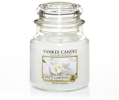 Lumanare borcan mediu White Gardenia