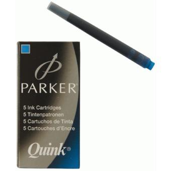 Patroane cerneala Parker,lungi,albatru lavabil,5buc/set