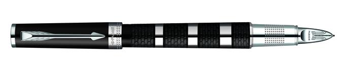 Parker Ingenuity Large Daring Black Metal&Rubber CT, Fine/Medium Black