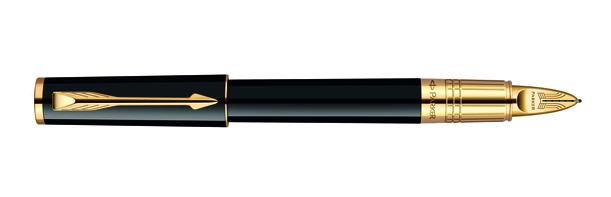 Parker Ingenuity Large Classic Black Lacquer GT, Fine/Medium Black