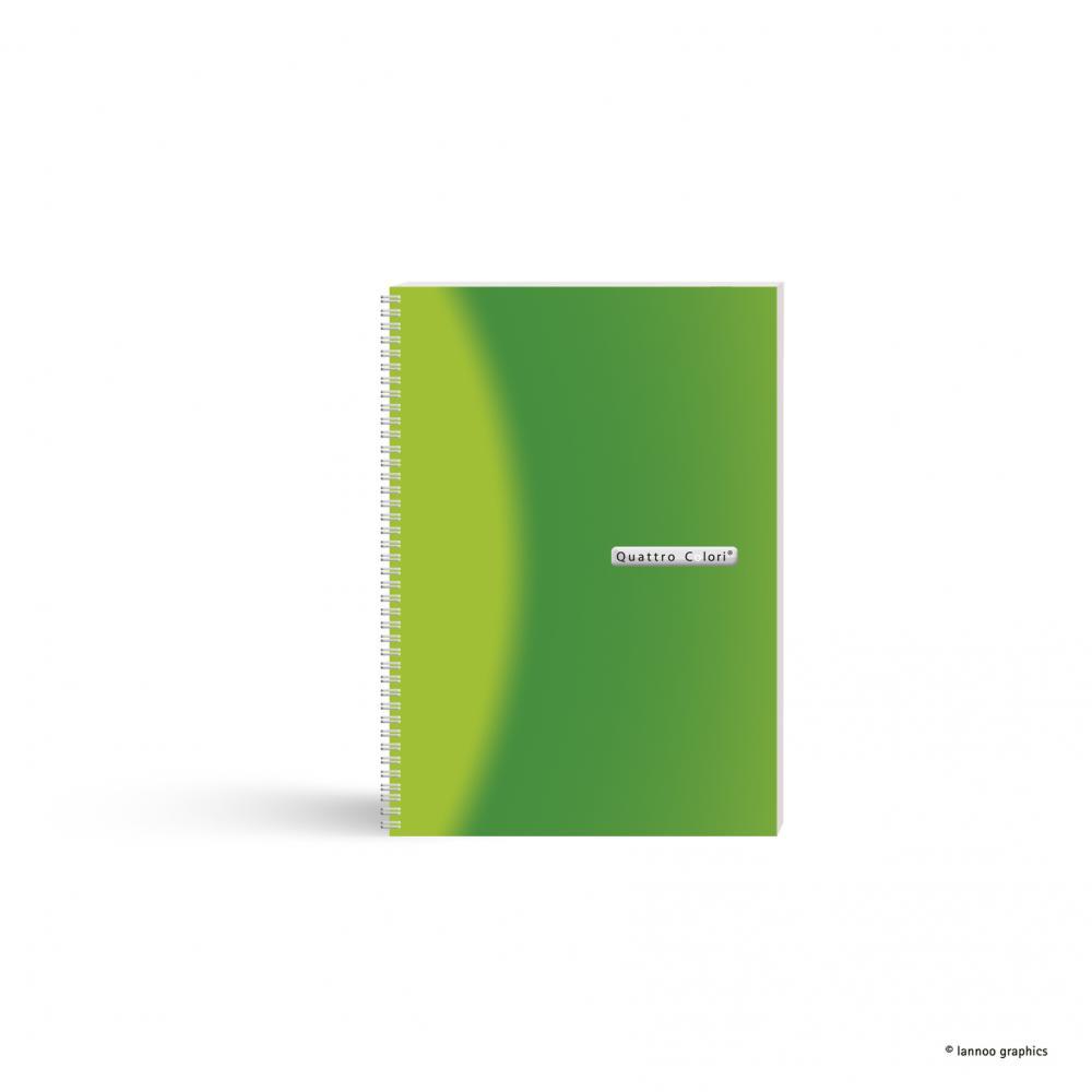 zzAgenda spira,A5,90f,QuattroColori,verde