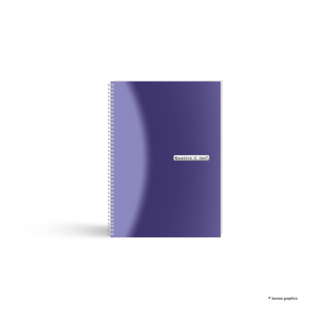 zzAgenda spira,A5,90f,QuattroColori,violet