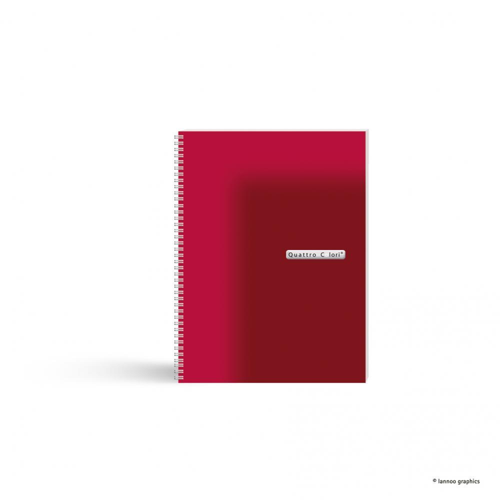 zzCaiet spira, A5,120f,QuattroColori,rosu