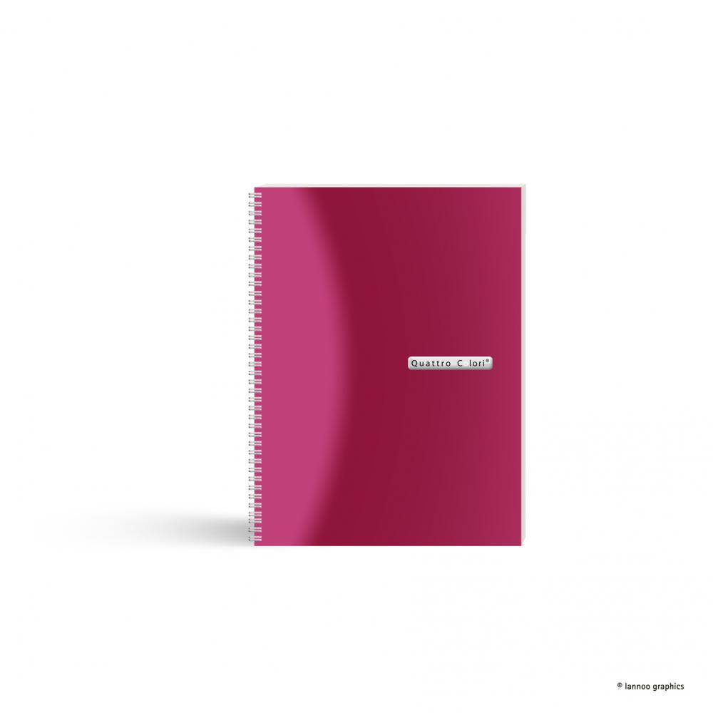 zzCaiet spira, A5,120f,QuattroColori,roz