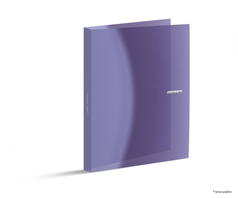 Caiet mecanic QuattroColori, A4, PP, 4 inele, mini, violet