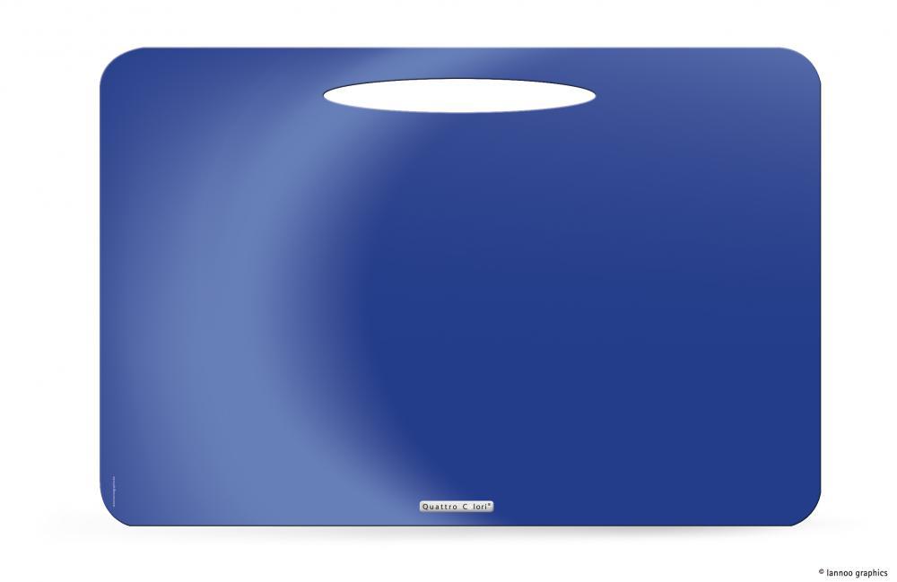 zzMapa birou QuattroColori,PP,albastru