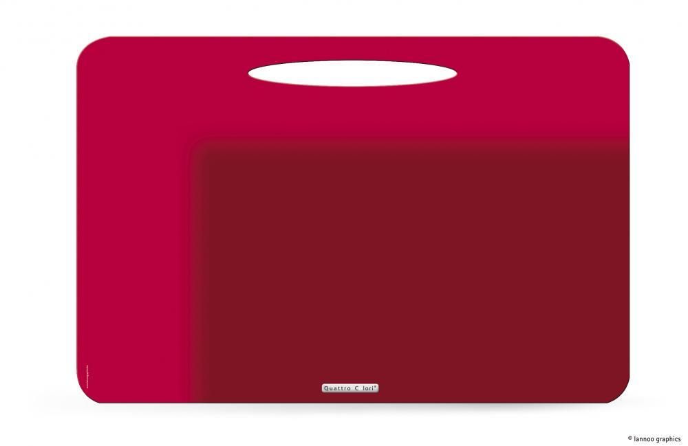 zzMapa birou QuattroColori,PP,rosu