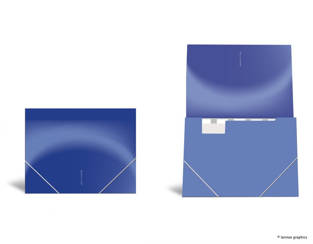 zzMapa cu elastic ,QuattroColori,albastru