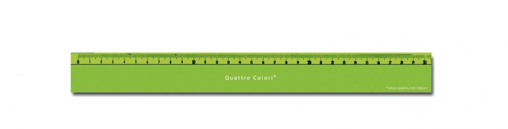 zzRigla 30 cm,QuattroColori,verde