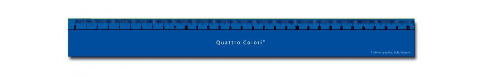 zzRigla 30 cm,QuattroColori,albastru