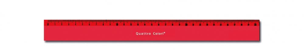 zzRigla 30 cm,QuattroColori,rosu