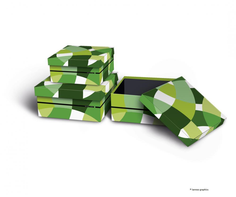 zzSet 3 cutii depozitare,QuattroColori+,ve