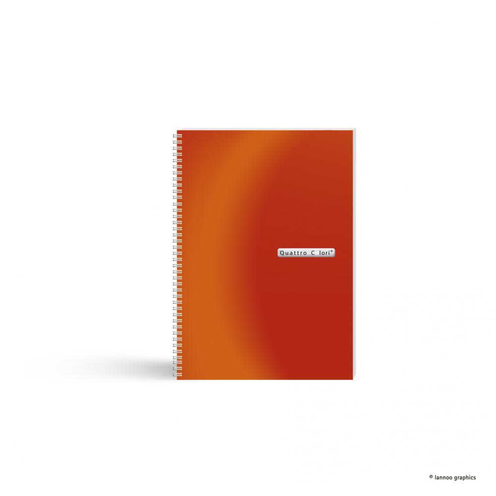 zzAgenda spira,A5,90f,QuattroColori,orange