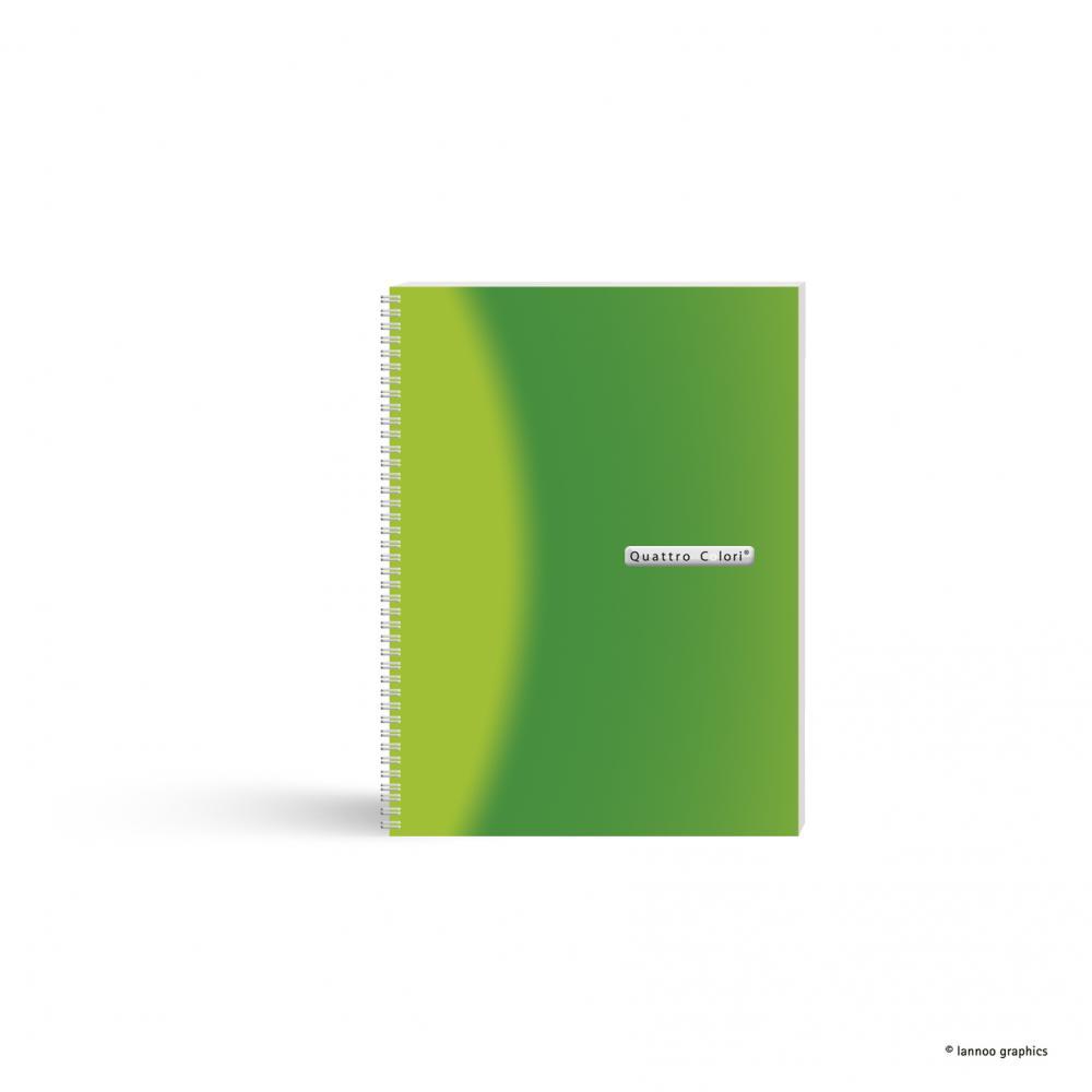 zzCaiet spira, A5,120f,QuattroColori,verde