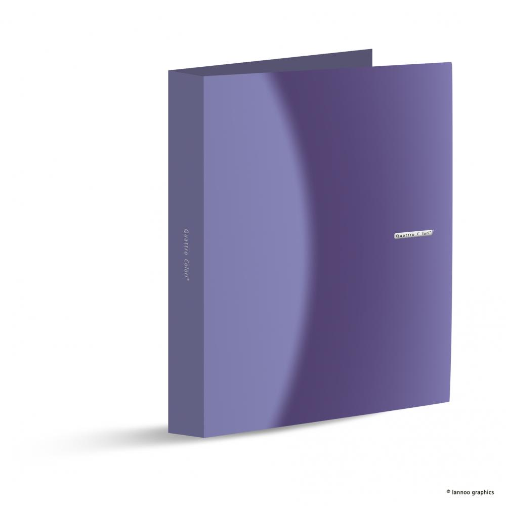 Caiet mecanic QuattroColori, A4, 4 inele, 5 cm, violet
