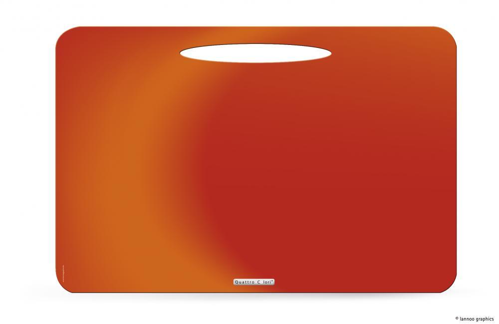 zzMapa birou QuattroColori,PP,orange