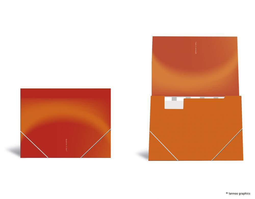 zzMapa cu elastic ,QuattroColori,orange