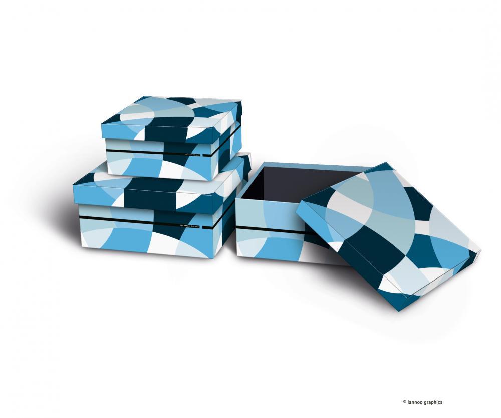 zzSet 3 cutii depozitare,QuattroColori+,bl