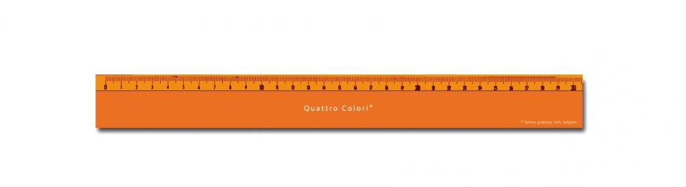 zzRigla 30 cm,QuattroColori,orange