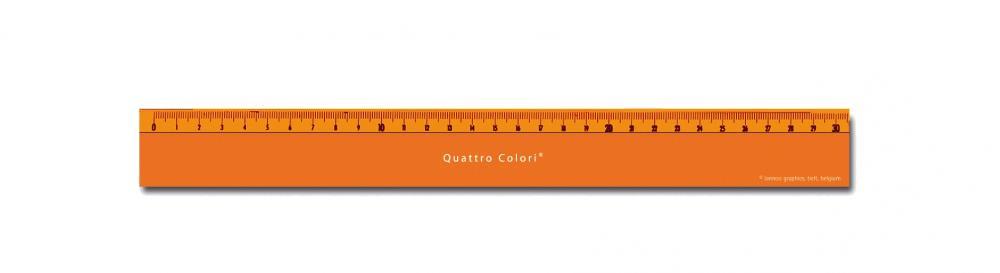 zzRigla 30 cm,QuattroColori,orange