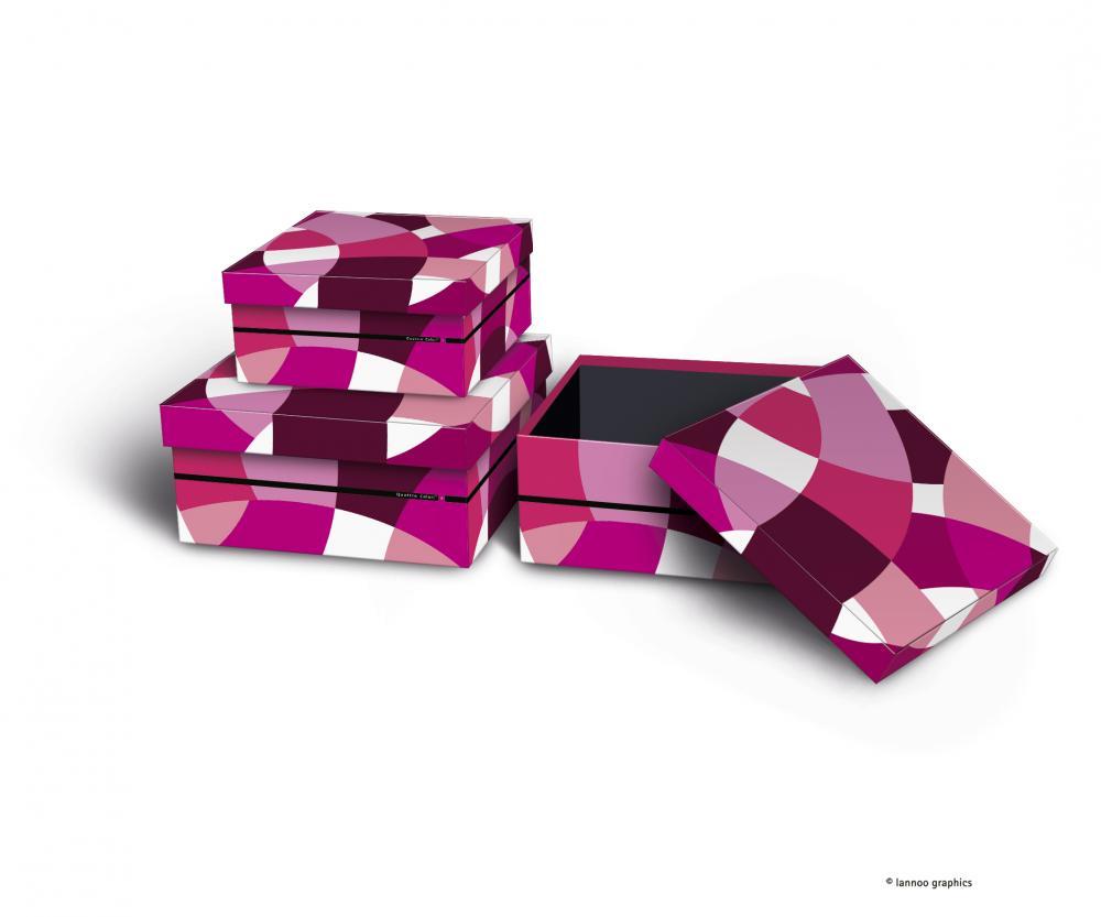 zzSet 3 cutii depozitare,QuattroColori+,ro