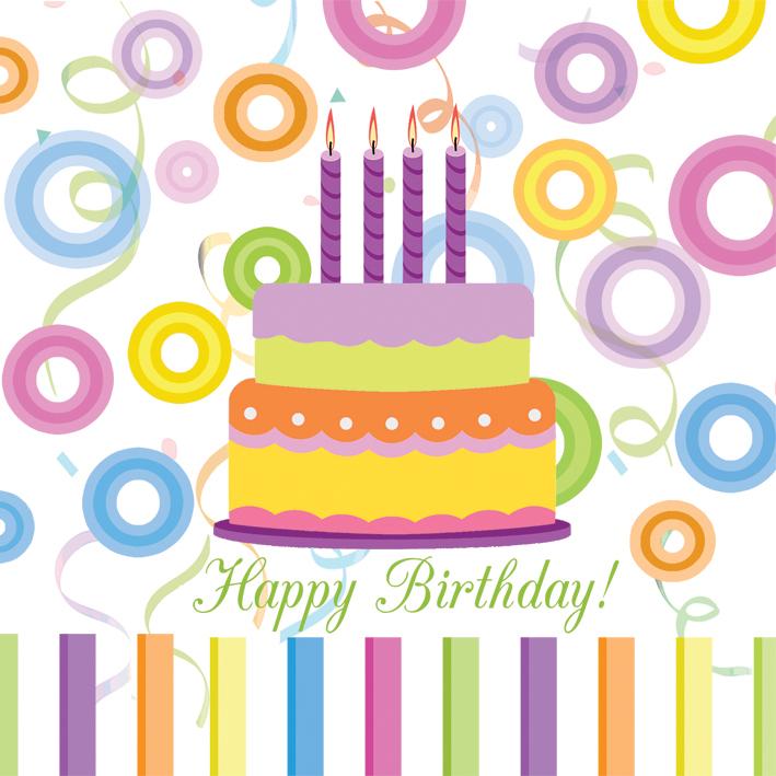 Servetele Happy Birthday,33x33cm