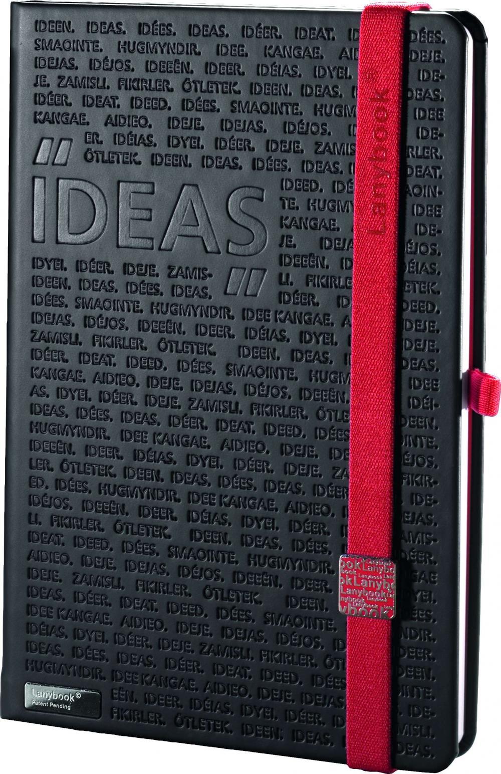 Agenda A6,Idea Factory,negru/rosu,mate