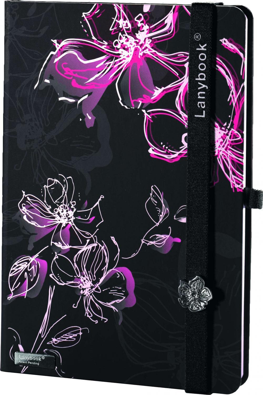 Agenda A5,Sparkling flowers,ne/rosu,velin
