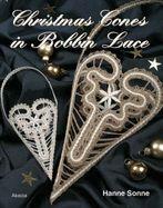 Christmas cones in bobbin lace