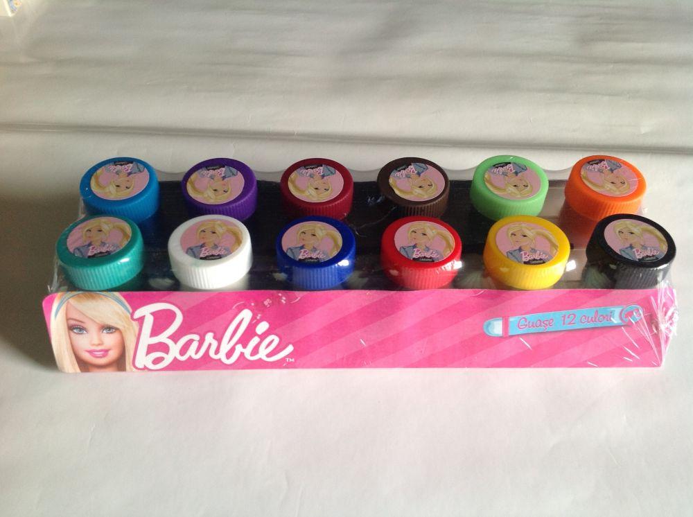 Guase 12 culori,  Barbie