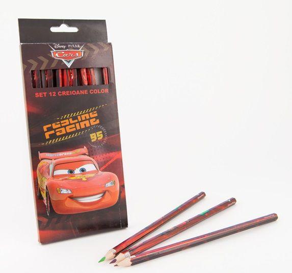 Creioane colorate 12 buc/set,Cars