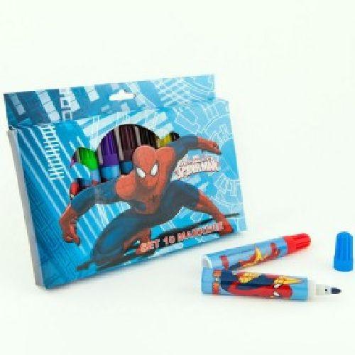 Markere copii,10b/cutie carton,Spiderman