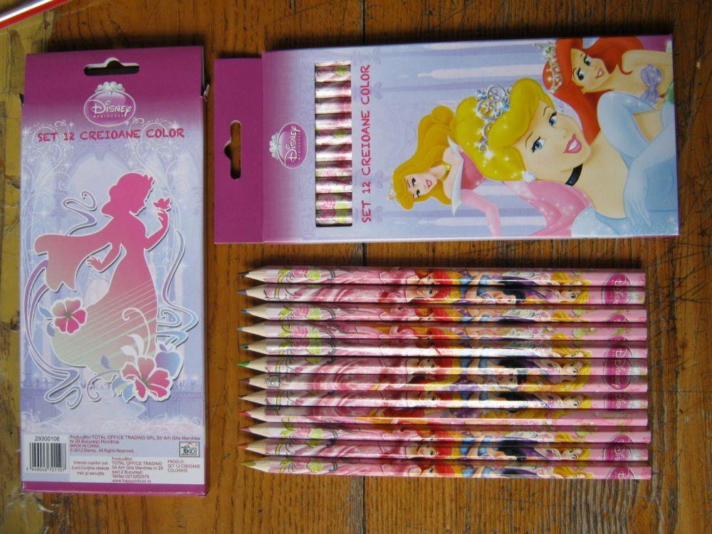 Creioane colorate 12 buc/set,Princess