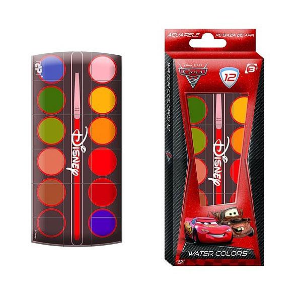 Acuarele 12 culori, Cars