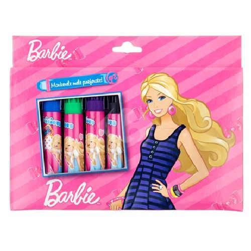 Markere copii,10b/cutie carton,Barbie