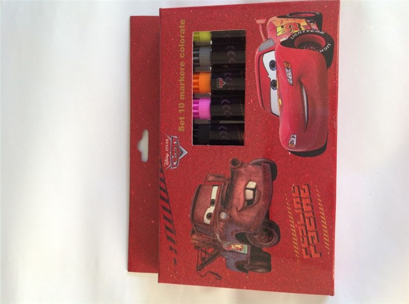 Markere copii,10b/cutie carton,Cars