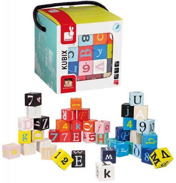 Set cuburi Kubix Litere si cifre, 40 pcs