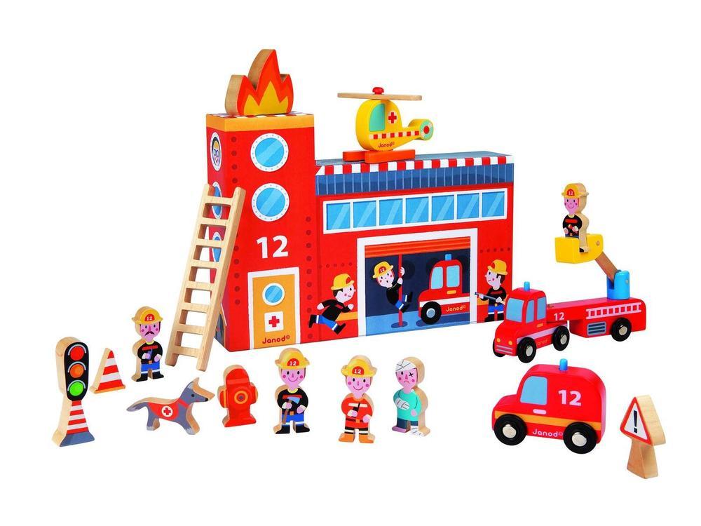 Set Povestea mea - Statie pompieri,15pcs