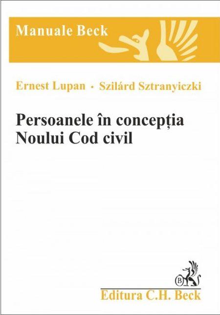 PERSOANELE IN CONCEPTIA NOULUI COD CIVIL