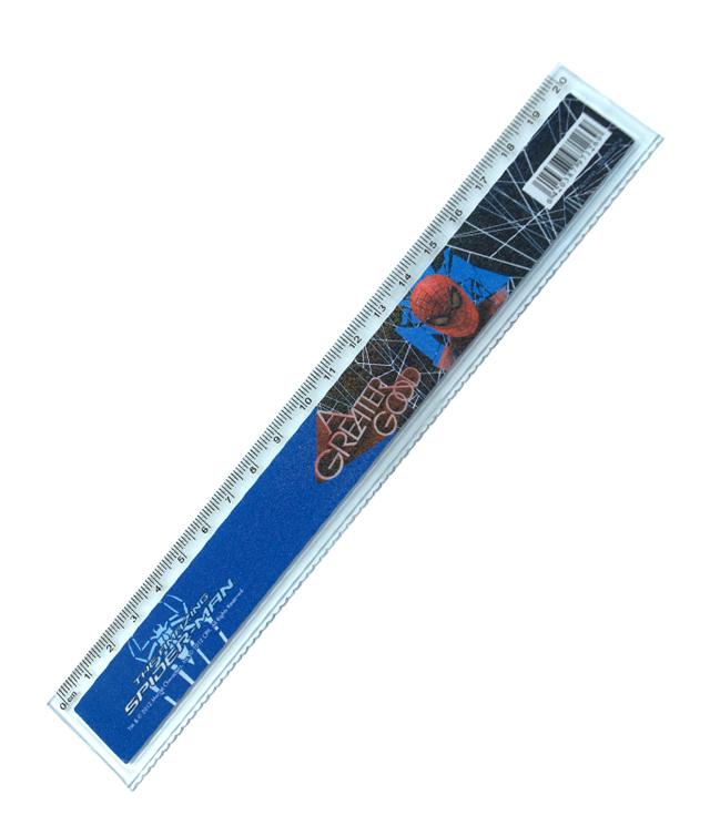 Rigla extensibila 30cm, Spiderman